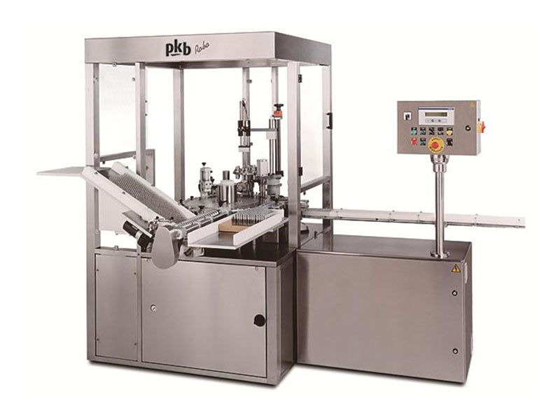 PKB ROBO PERFUME SAMPLES: filling/capping machine up to 140 bpm
