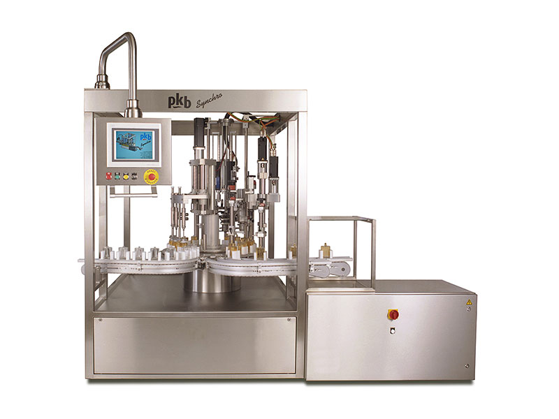PKB SYNCHRO PERFUME: 60 bpm perfume servodrive filling and capping machine