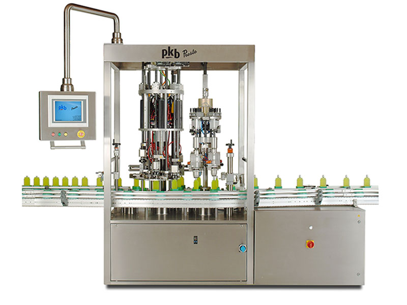 PKB PRESTO PERFUME: 120 bpm all servodrive multi-format continuous crimping machine