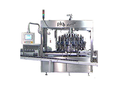 PKB MASSFLO Hair-dye : filling and capping machine up to 200/400 bpm