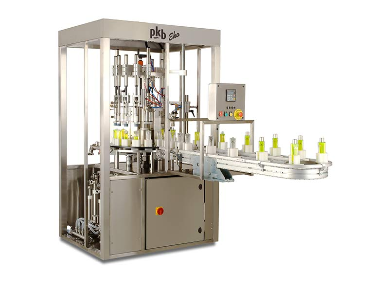 PKB EKO Hair-dye : filling and capping machine up to 35/40 bpm